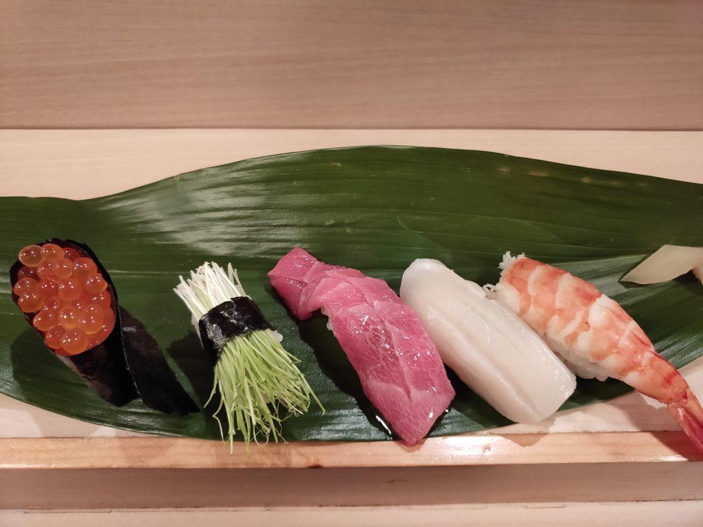 Sushi, delicious sushi.