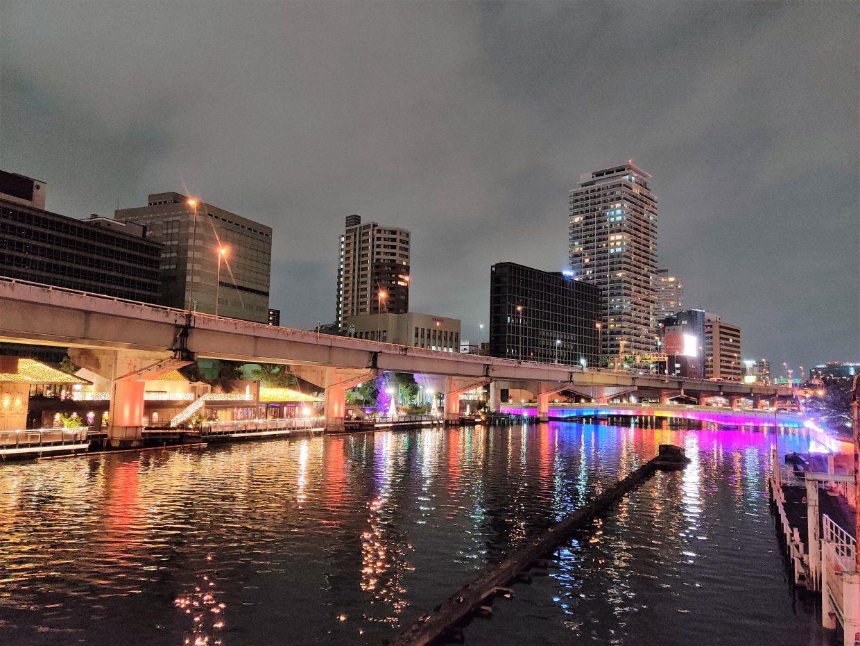 Nakanoshima at night