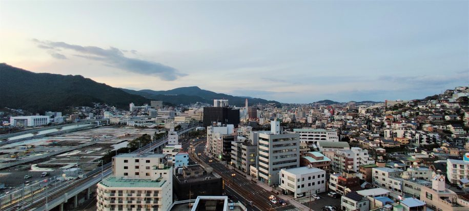 View of Nagasaki from above