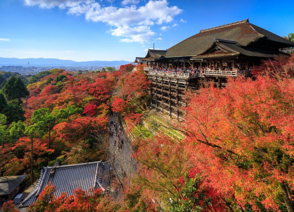 Kiyomizu dera temple in autumn